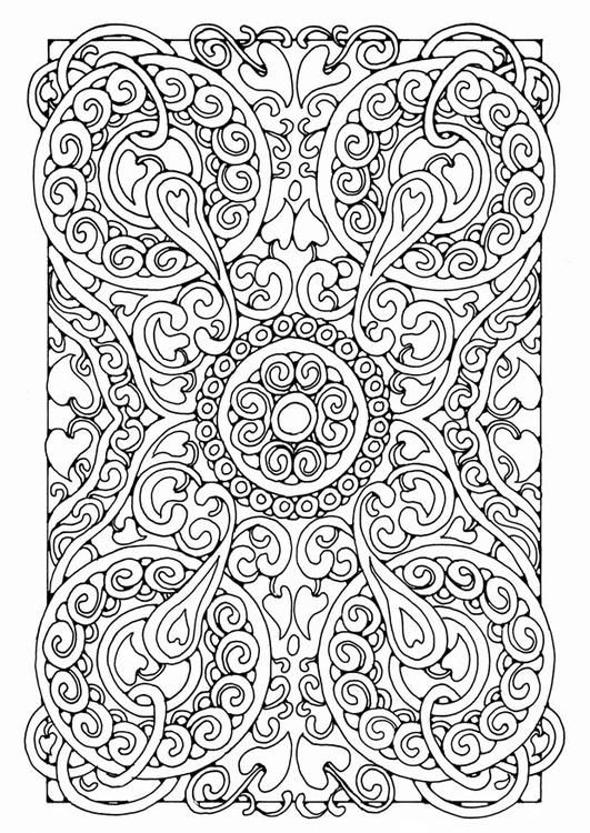 Coloring page mandala a05 - coloring picture mandala a05. Free coloring sheets to print and download. Images for schools and education - teaching materials. Img 21807.