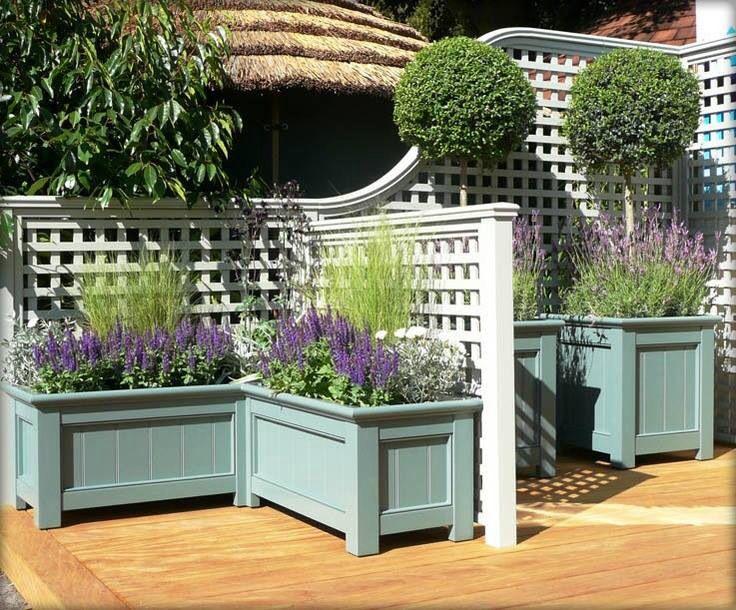 Lattice & pretty planter boxes