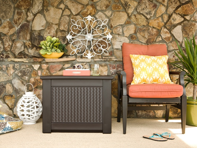 The Rubbermaid Patio Chic outdoor storage collection combines the stylish details of modern outdoor furniture with storage space built in! Finally, form and function unite - just in time for spring.