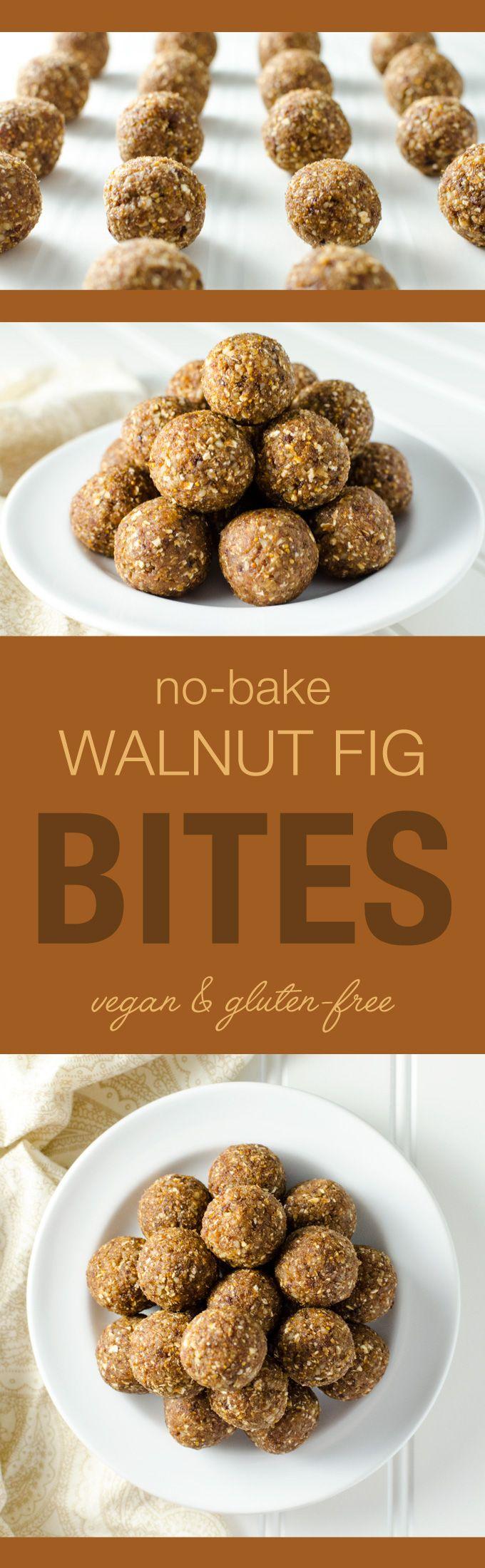 Dessert Recipe: No-Bake Walnut Fig Energy Bites  #vegan #glutenfree #recipes…