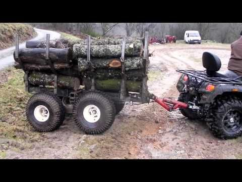 remorque quad forestiere - YouTube