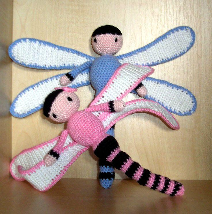Zabbez Crochet Patterns : Dragonflies Dave and Lisa made by Erika S - crochet pattern by Zabbez