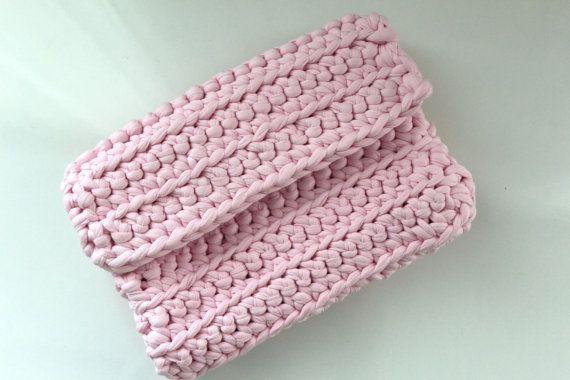 PINK knitted handbag