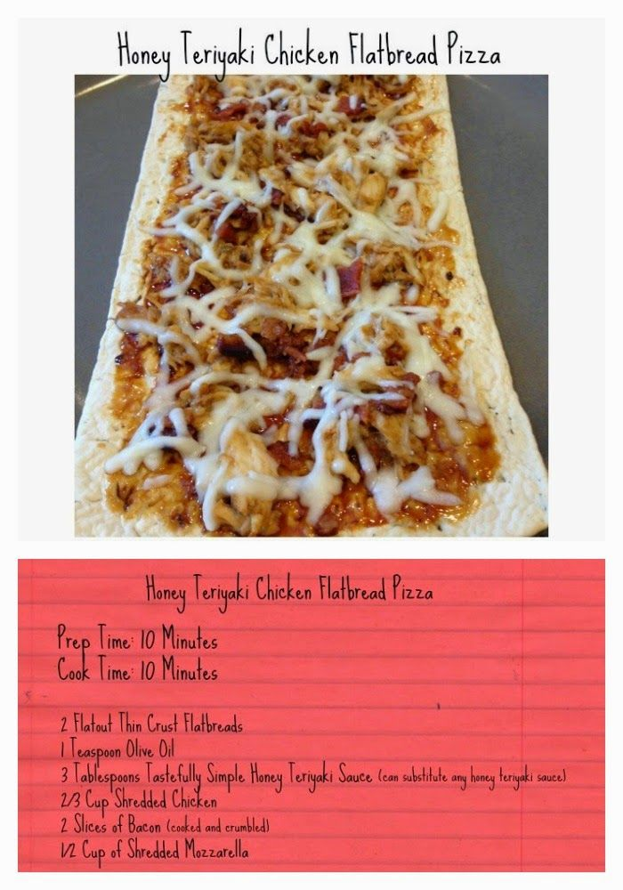 Honey Teriyaki Chicken Flatbread Pizza Recipe    The Chirping Moms