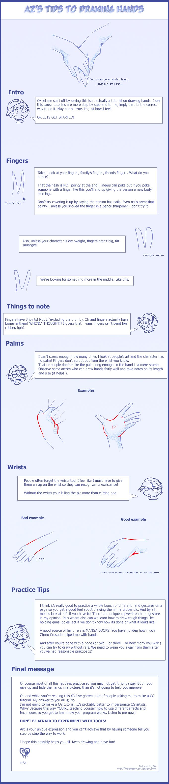 Az's Tips to Drawing Hands by *Uberzers on deviantART