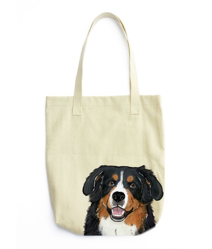 Description: The Bernese Mountain Dog color 10 oz. cotton twill tote bag is the perfect gift for the Bernese Mountain Dog or dog lover in your life. These tote bags are handmade from the highest quali