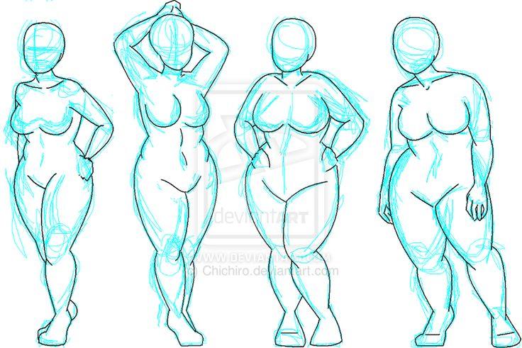 Não sei sealguémque esteja lendo este post agora já teve a curiosidade de saber se existe o croqui (desenho de moda) Plus Size....