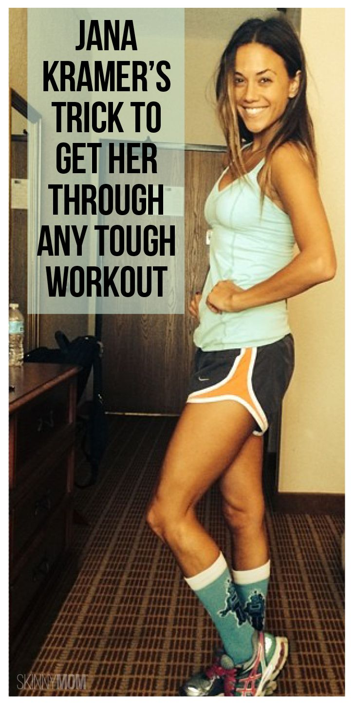 Jana Kramer is sharing her tips on she gets through any tough workout, and continue living a healthy lifestyle