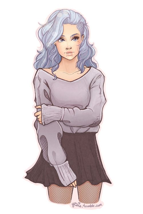 Commission for the lovely mantarazors! A modern genderbent version of Zexion from kingdom hearts for her rp blog! Everyone go check her out c: I love drawing pastel blue hair!!  High-res available on my blog!