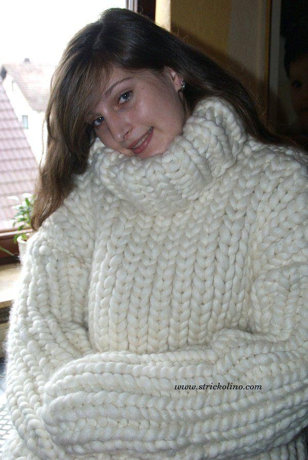 low cost fc8d2 44540 4-6 kg Turtleneck sweater super chunky merino sheep wool ...