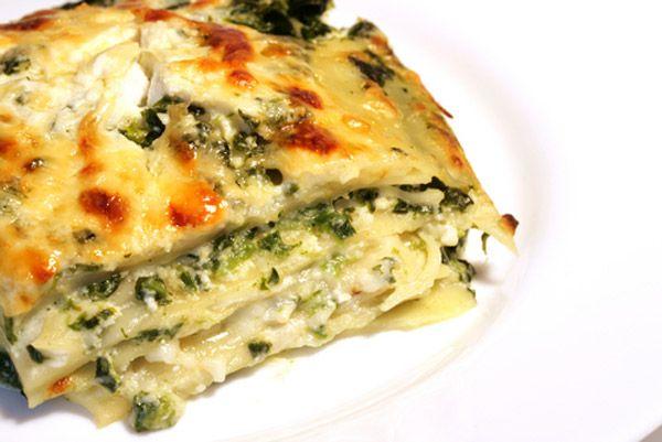 Λαζάνια με σπανάκι και φρέσκο τυρί