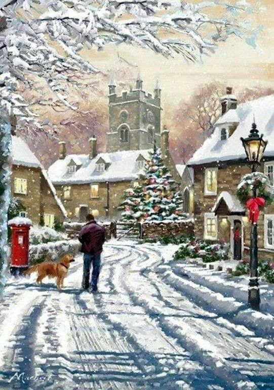 Beautiful Christmas scene