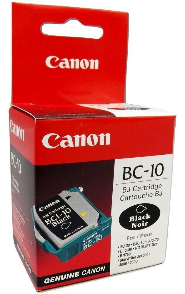 New Genuine Canon BC-10 Black Ink Cartridge Printhead Nice Carton