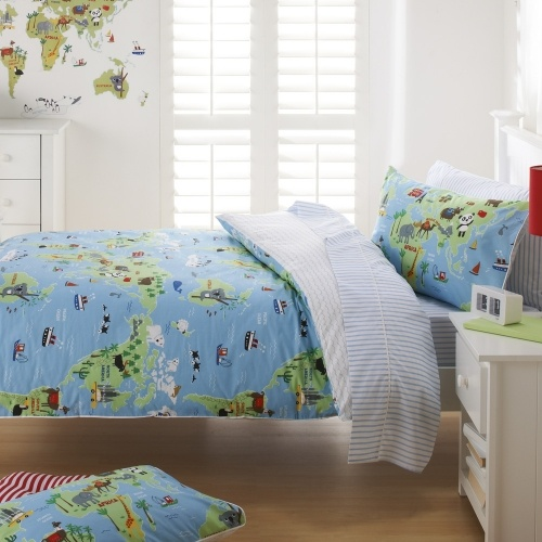 154 best kids room images on pinterest child room bedrooms and adairs kids boys harrys world map quilt covers coverlets adairs gumiabroncs Gallery
