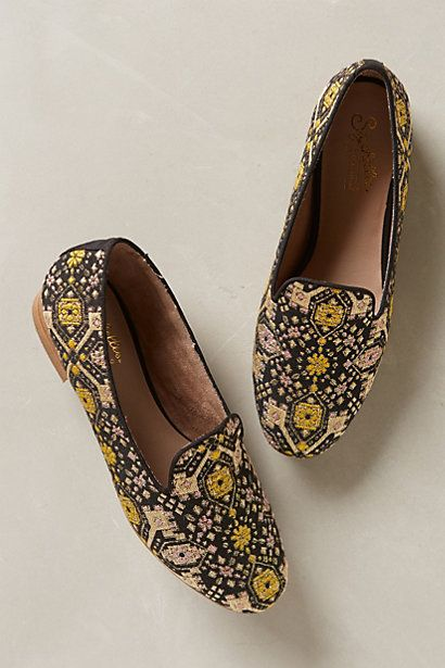 Glitzed Smoking Loafers #anthrofave