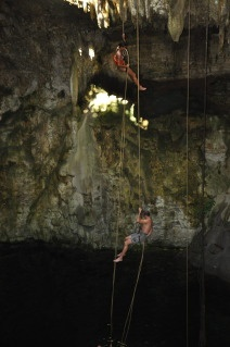 cave repelling