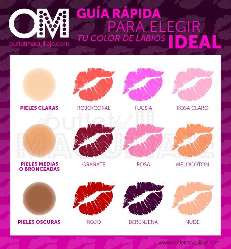 Color de pintalabios en función del tono de piel | Blog Outlet Maquillaje