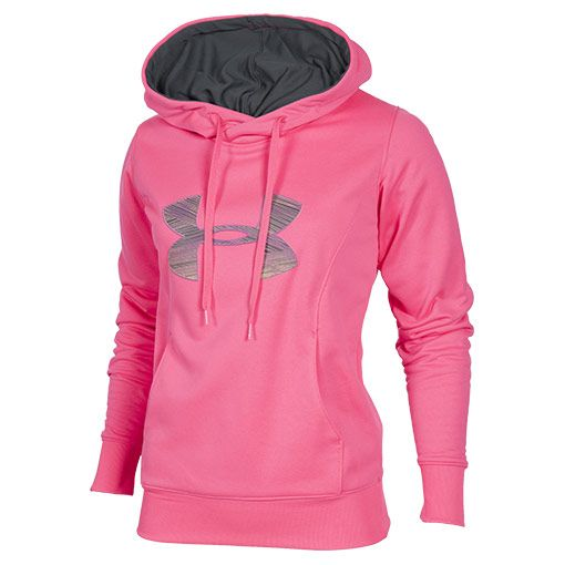 Hot pink under armour hoodie
