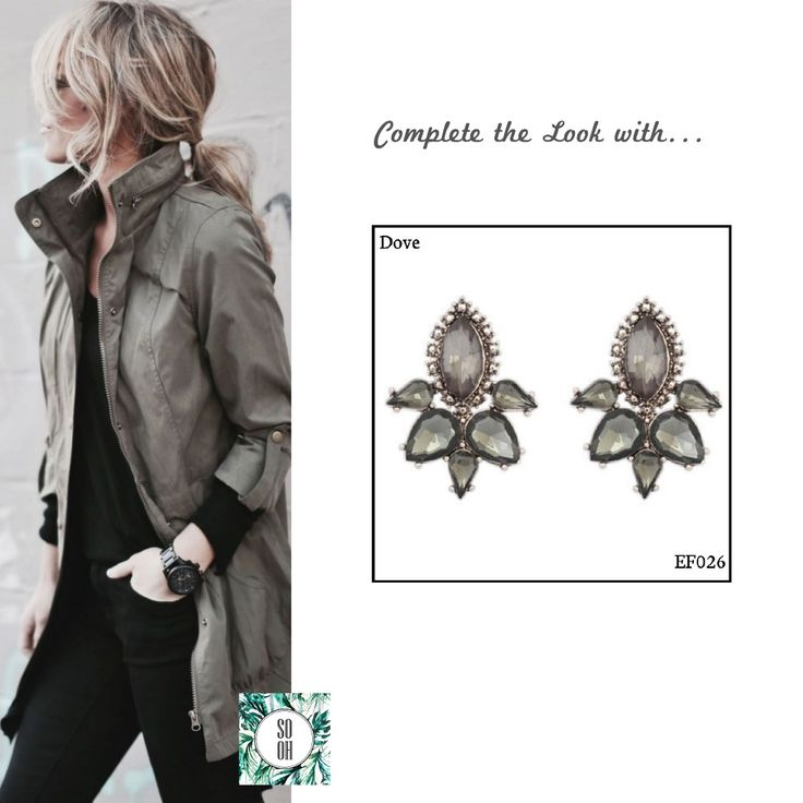 Ref: EF026 Dove Medidas: 3.4 cm x 2.5 So Oh: 6.99  #sooh_store #onlinestore #style #inspiration #styleinspiration #brincos #earrings #fashion #shoponline #aw2016 #aw1617 #winterstyle