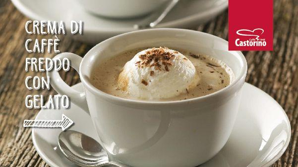 Crema di caffè freddo con gelato