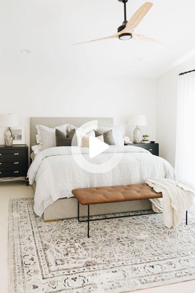 の と閉じ Moderneの Mursの Neutres Chambre Blancs 現代農業 白 中立壁の商工会議所 Modernbedroom 2020 画像あり ベッドルーム