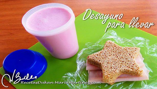 Desayuno Dukan PP: Batido de Proteína (Desayuno para llevar, para los que siempre andan con prisas)