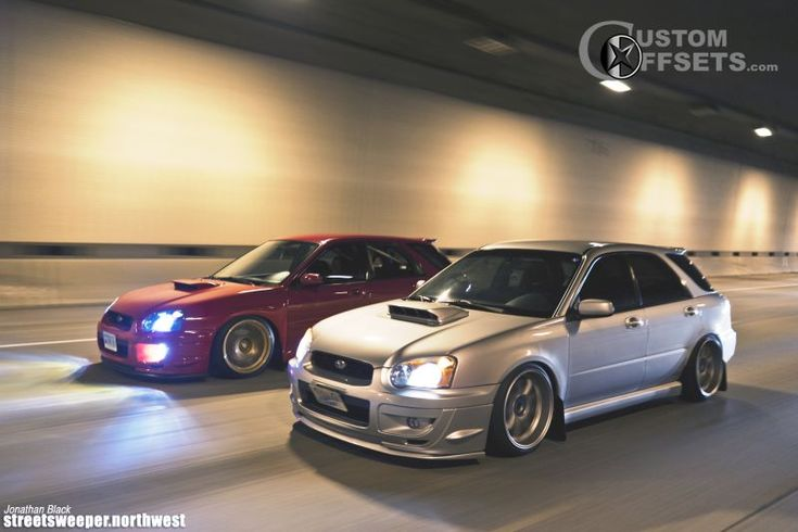 04 impreza subaru wrx awd 4dr sport wagon 20l 4cyl turbo 4a dropped 1 3 work emotion xd9 silver hellaflush 4913 2