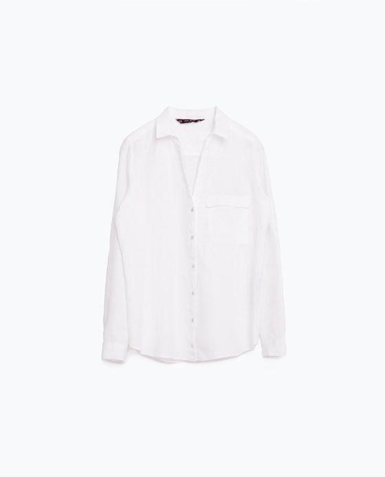 Image 8 of LINEN SHIRT from Zara