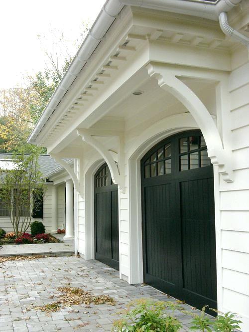 Dark Brown Garage Doors White House With Dark Brown Garage Doors Garage Door Design Garage Doors House Exterior