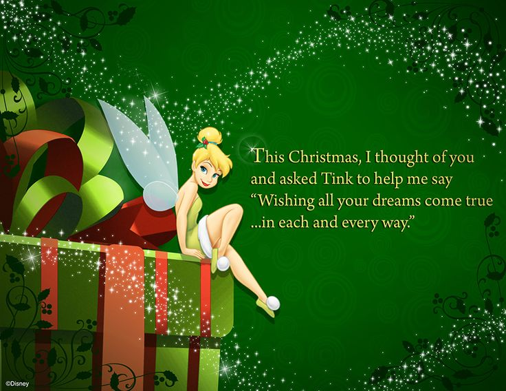 Tinkerbell Helps You Send Happy Thoughts to Someone Special With a Disney Christmas Card