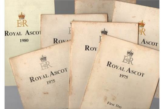 Horse Race Cards: Royal Ascot race cards from the 1970s / 1980s (7) Good