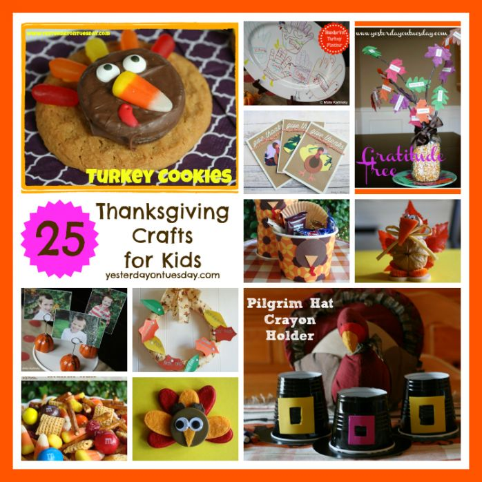 Thanksgiving Crafts for Kids, from centerpieces to sweets and everything in between! Great ideas that kids can make and enjoy,
