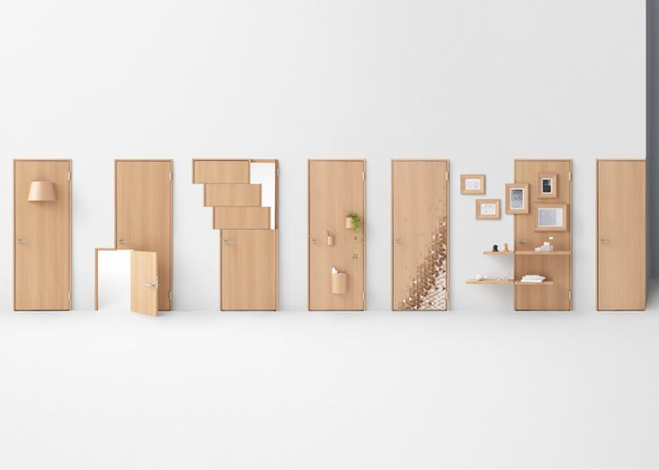 Nendo's seven door concepts include designs for wheelchair users and children.