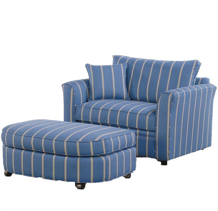Vendor 10 Bridgeport Casual Chair and a Half with Sleeper Mechanism - Becker Furniture World - Chair & a Half Twin Cities, Minneapolis, St. Paul, Minnesota