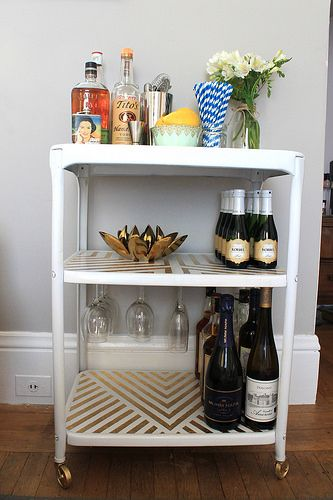 on shelves!  decorate  Pinterest  Bar Carts, Bar and Diy Bar Cart