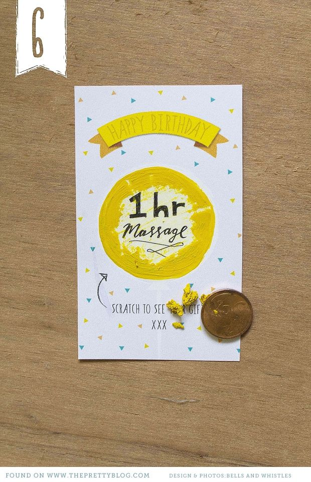 Birthday scratch card DIY by Bells & Whistles Stationery