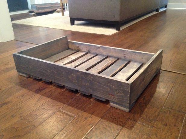 Solid Wood Pallet Dog Beds Custom Dog Beds Dog Bed Frame