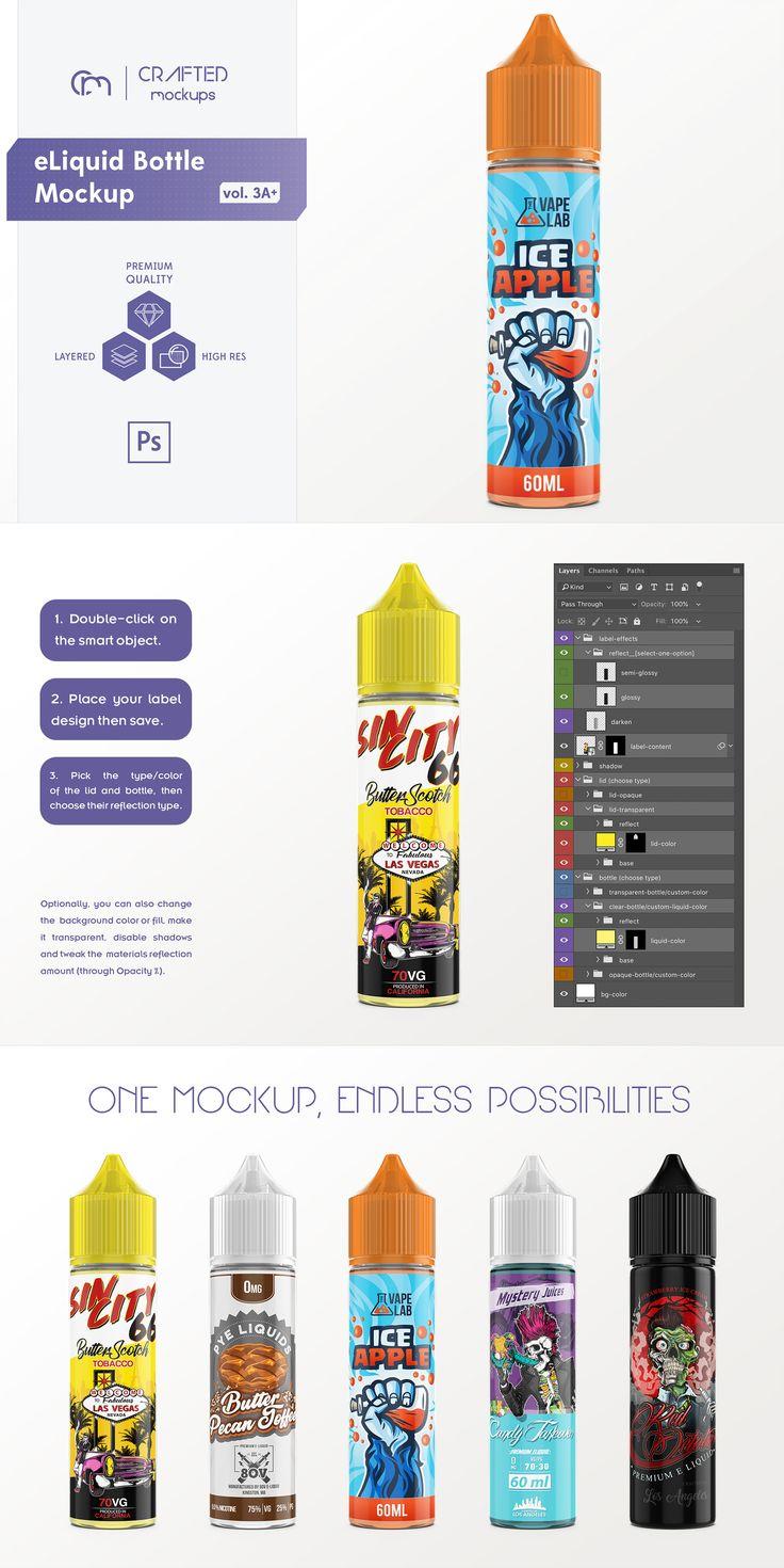 Pin On Oem E juice bottle label template