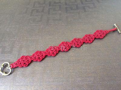 macrame red bracelet handmade new year ornament