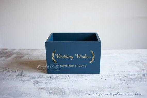 Wish your Bride and Groom the best, advice them tips  for the marriage  wishes box wedding card box recipe memory box by SimpleCraftIdeas