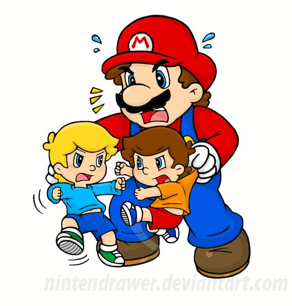 BREAK IT UP by Nintendrawer.deviantart.com on @DeviantArt