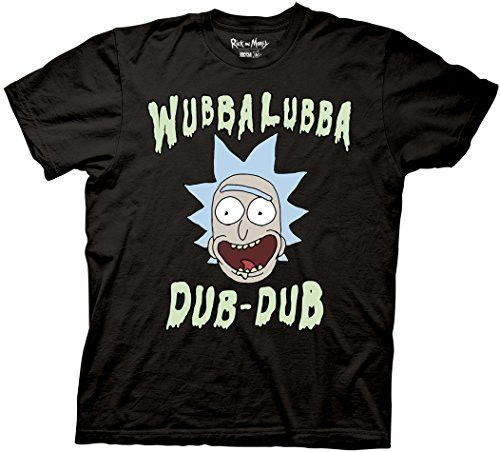 One of Rick's many catchphrases is featured on this Rick and Morty tee. - Officially licensed Rick and Morty T-shirt - Standard Adult Men's sizes and Fit - Printed and Designed by Ripple Junction - Wu