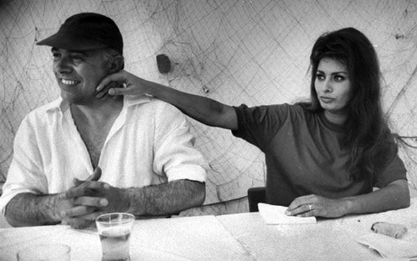 one of my favorite photos of #Sophia Loren with husband Carlo Ponti.