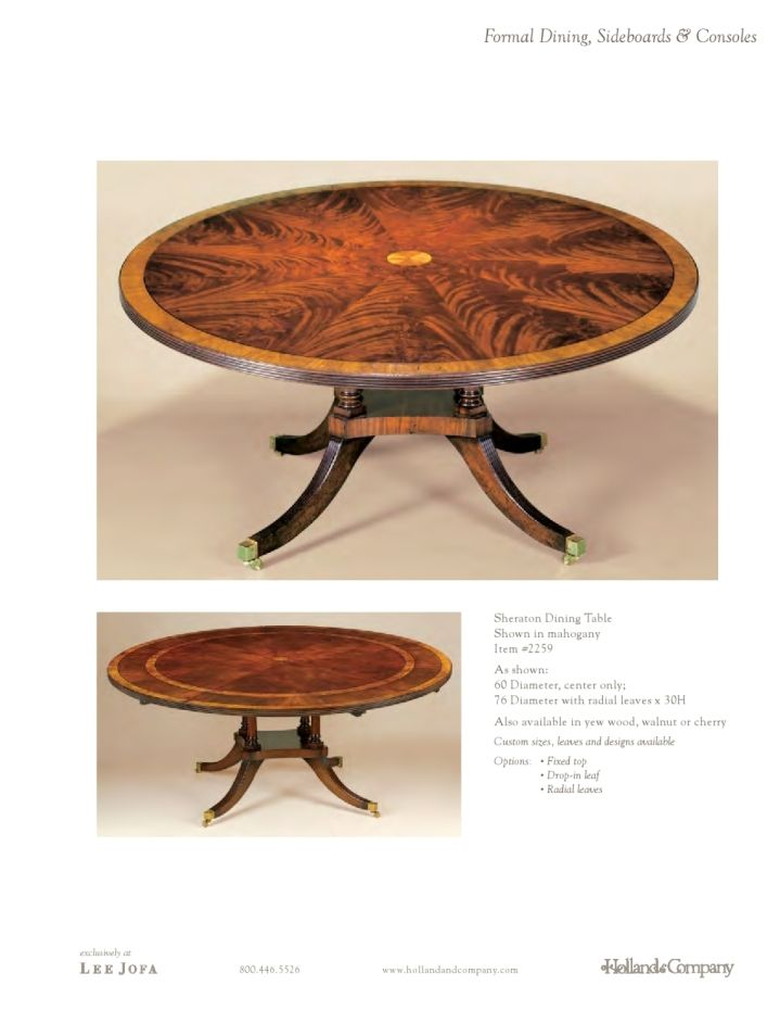 Holland & Company - Dining - Sheraton Dining Table