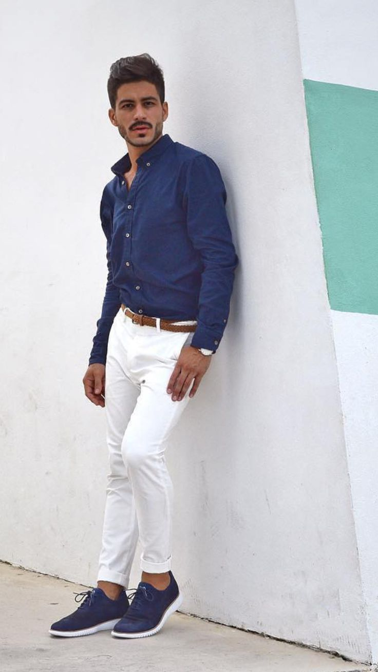 Try an all-white outfit with white jeans for a bold statement. Pair your white jeans with a shirt for a smart casual look and blazer for a semi-formal style. Choose from sneakers, boots, loafers, and derby shoes to complete an outfit with white jeans.