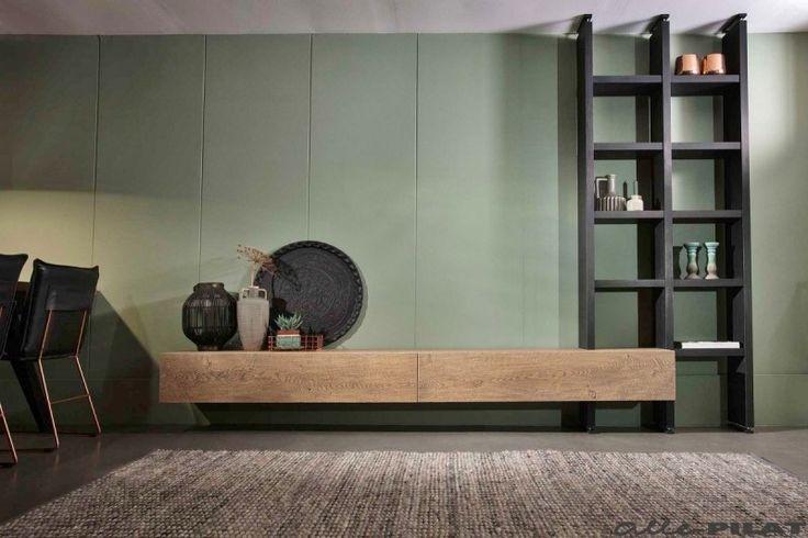 Hangend eiken tv-meubel Op en Del wordt voor u op maat gemaakt - Woonwinkel Alle Pilat