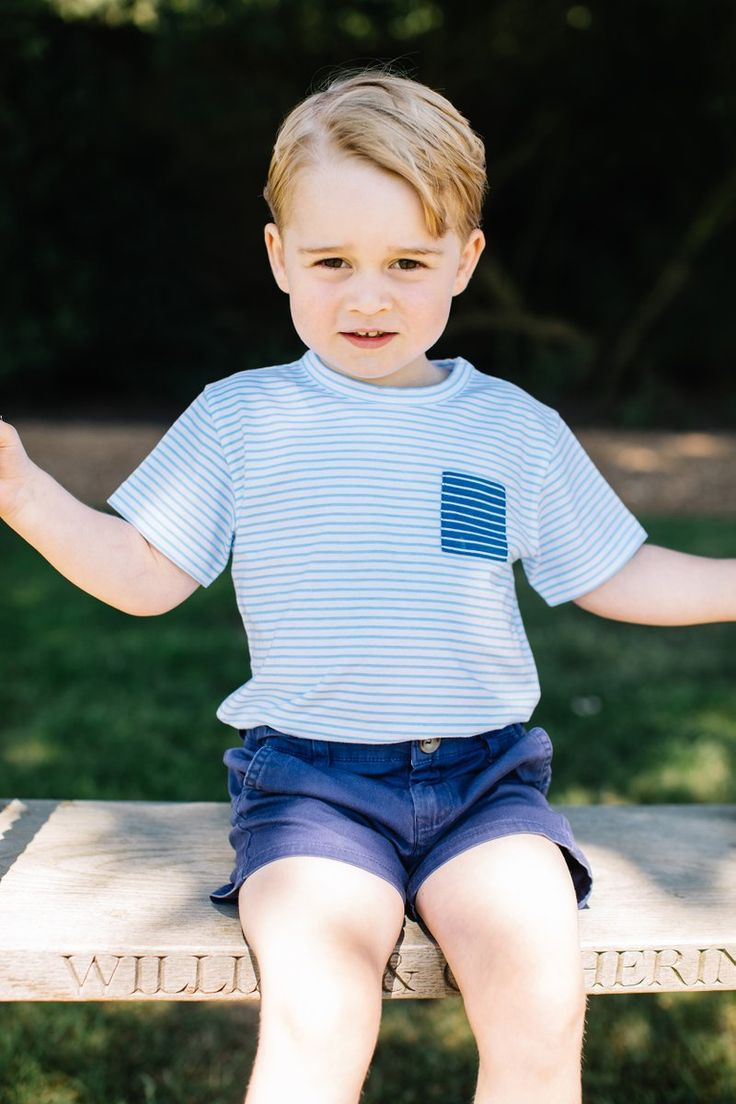 Kensington Palace (@KensingtonRoyal) on Twitter:  Prince George turns 3 today, July 22, 2016 (b. July 22, 2013); the Duke and Duchess of Cambridge released photos of George taken in the garden of Anmer Hall by Matt Porteous