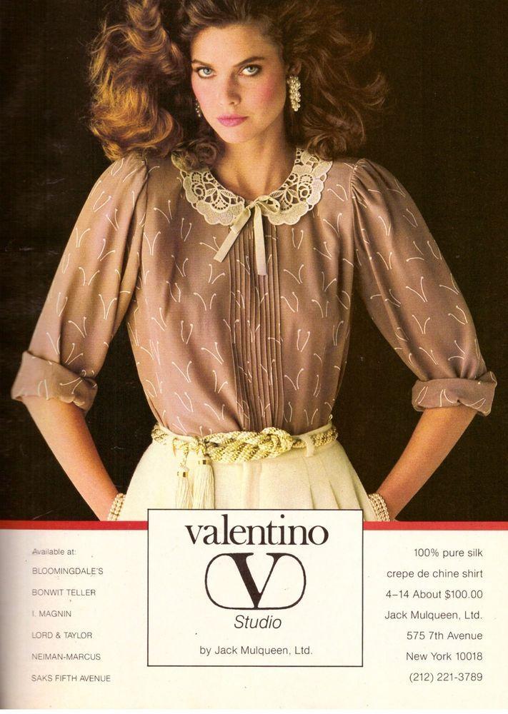 1981 Valentino Carol Alt Jack Mulqueen Print Ad Advertisement Vintage VTG 80s   eBay