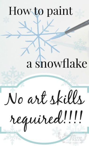 How to paint a snowflake no art skills required