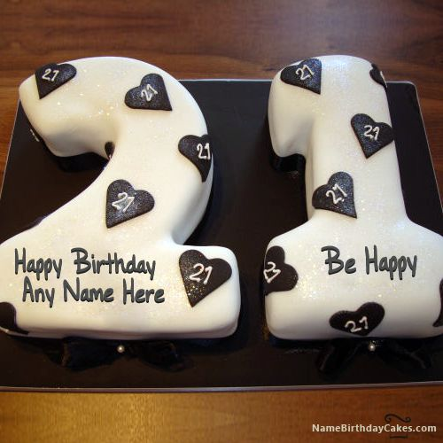 Write Name On 21st Birthday Cake Picture